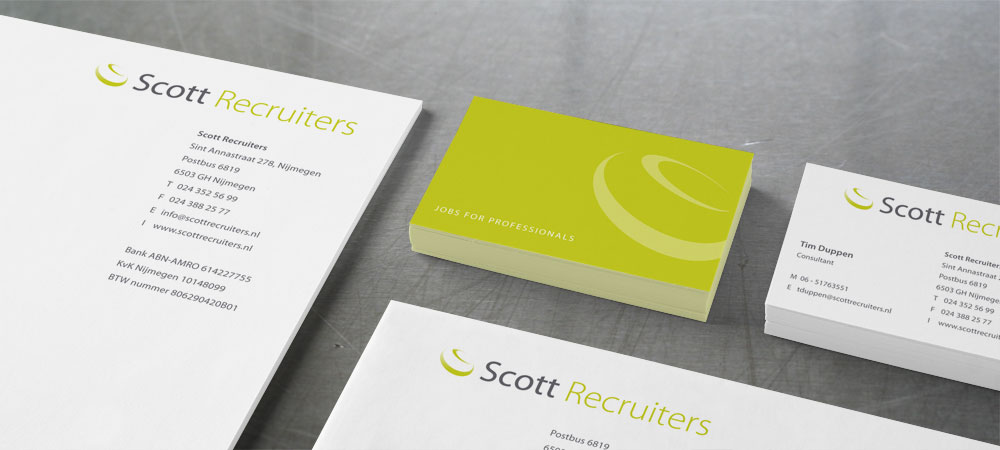 Huisstijl Scott Recruiters